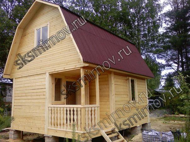 Строительство дешевых дачных домиков из бруса под ключ. Каталог